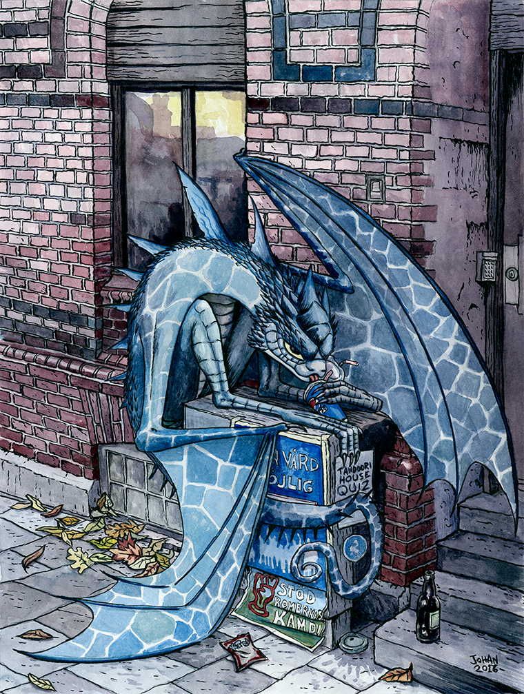 Urban fantasy dragon